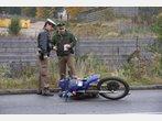 Bilder vom Motorradunfall in Freising